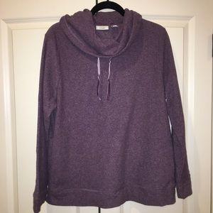 Ll bean fleece cowl neck sweater